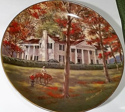 """AMERICAN COMMEMORATIVE COUNCIL GORHAM CHINA - FORT HILL - 11"""" Plate 1980"""