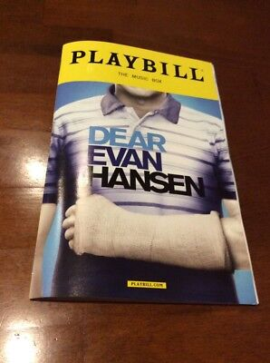 Dear Evan Hansen Broadway New York City Playbill November 2017 Ben Platt Rare