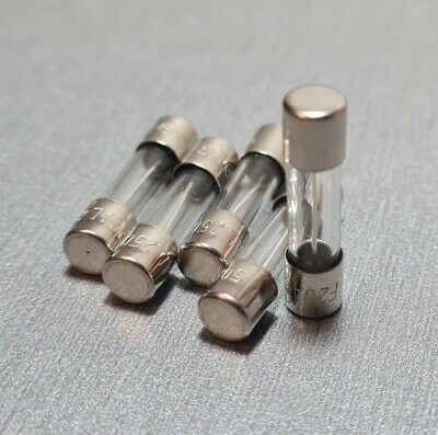 20A Glass Fuse M205 5x20mm Fast Blow 250V Pack of 10