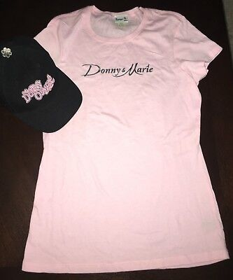 New Donny & Marie Osmond:donny Hat (M/l) & Donny & Marie Pink Shirt (Xlarge)