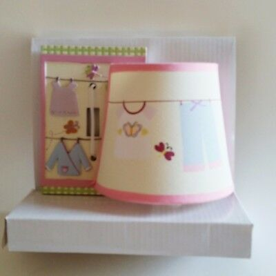 Tiddliwinks Cloths Line Girls Room Decor Night LIght & Switch Plate