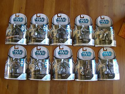 """Star Wars The Legacy Collection """"1st Day of Issue"""" 2008 Build a Droid Figures"""