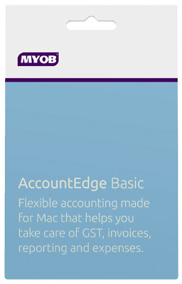 MYOB AccountEdge Basic Mac Non-Subscription Software Download RRP $549.00