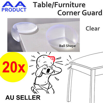 20x Table Corner Guard Protector Furniture Baby Proof Safety Clear Ball Shape