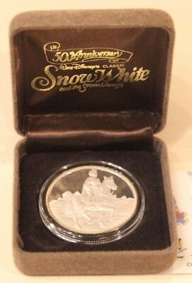 """""""Prince"""" Silver 1 oz Coin Snow White 50th Anniversary Proof New undisplayed."""