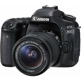 Canon EOS 80D 24.2MP Digital SLR Camera - Black (Kit w/ EF-S 18-135mm IS USM