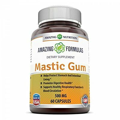 Mastic Gum 500 Mg 60 Cap Digestive Supplement Support Respiratory Health Care