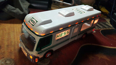 Collectible 1998 Hess Gasoline Model Toy R.V. Truck Working Lights Missing Doors