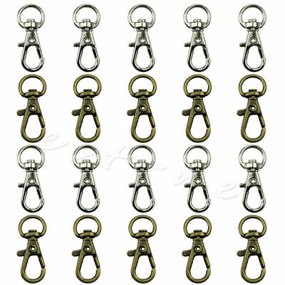 Swivel Trigger Clips Snap Hooks Lobster Clasp Keychain Bag DIY Craft Key 10Pcs