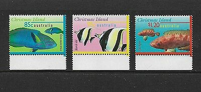 CHRISTMAS ISLAND 1997 Marine Life Part III, Fish, No.1, mint set of 3, MNH MUH