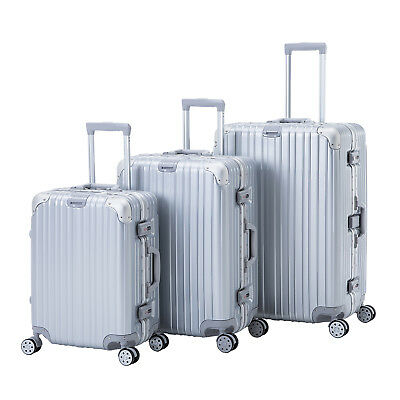 3 PCS Luggage Set Trolley Spinner Travel Bag Carry On Suitcase with TSA Lock