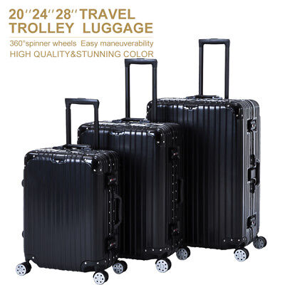3 PCS Luggage Set Spinner Trolley Travel Bag Carry On Suitcase with TSA Lock