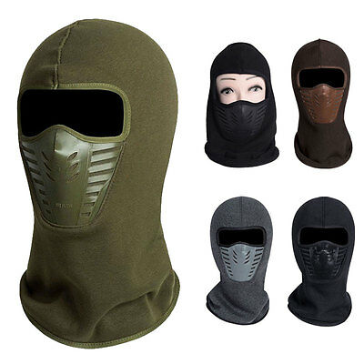 New Winter Motorcycle Thermal Fleece Ski Balaclava Full Face Neck Mask Cap Hat