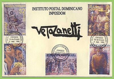 Dominican Republic 1999 Jose Vela Zanetti (Spanish artist)set on First Day Cover