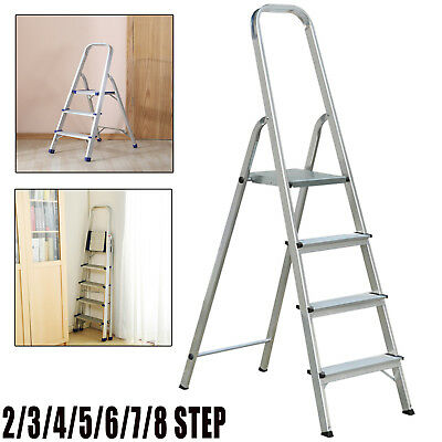 Aluminium Step Ladders Ladder Decorating Painting Platform 3 4 5 6 7 8 9 Tread