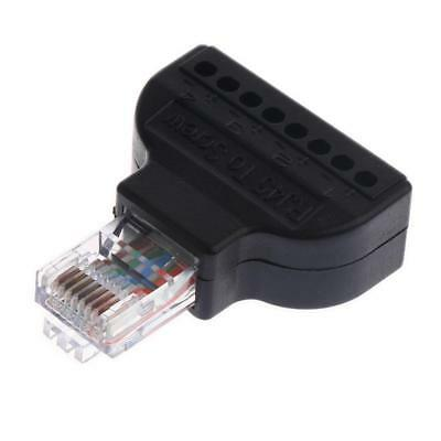 RJ45/8P8C Ethernet Plug RJ-45 Male to 8 Pin AV Terminal Screw Converter Plug