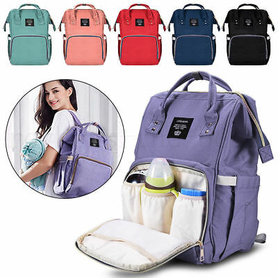 Multifunctional Baby Nappy Diaper Backpacks Large Waterproof Mummy Changing Bags