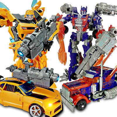 Transformers Car Action Figures Grimlock Bumblebee Optimus Prime Kid Toy Gift AU