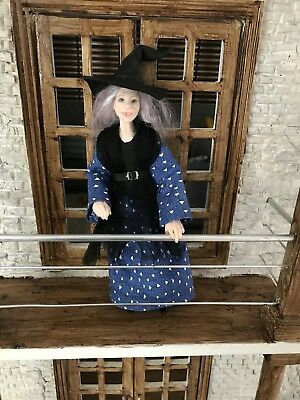dollhouse miniature Ooak Hand Sculpted  Lady Witch