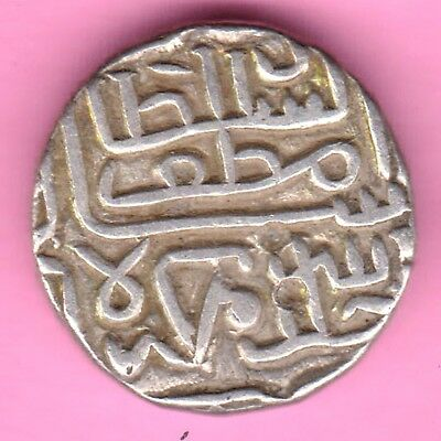 Gujarat Sultanate-Muzaffer Shah-One Tankah-Rarest Beautiful Silver Coin-20