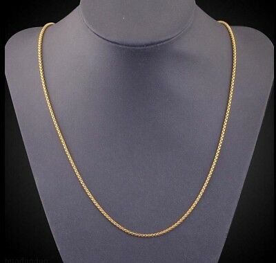 Fashion Unisex Men 18K Gold Plated Snake Chain Choker Necklace Jewelry 3MM 24 ""