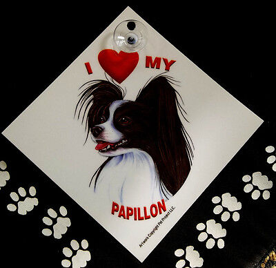 Papillon Lovers Auto Decal
