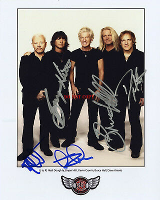 REO Speedwagon Autographed 8x10 Photo Signed Reprint