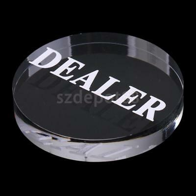 Poker Dealer Button Acrylic Poker Game Dealer for Poker Cards Game 56mm Best