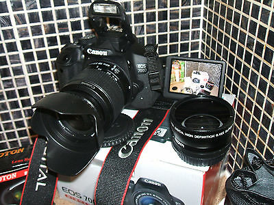 Canon EOS 700D / i 18.0MP Digital SLR Camera - Black with  THREE LENSES