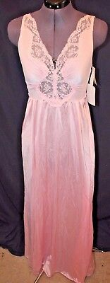 Vintage OLGA Strawberry Ice Colored Long Nightgown Sweep Size Small NEW With Tag