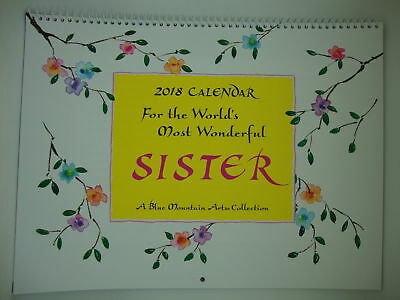 Blue Mountain 2018 calendar for the worlds most wonderful sister