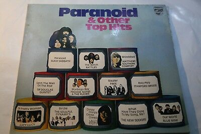Paranoid & Other Top Hits - LP Philips Black Sabbath Rattles Free Blue Mink u.a.