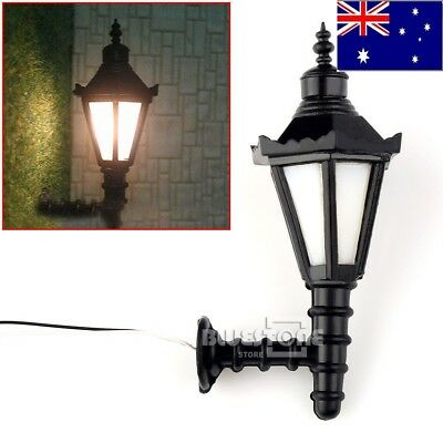 New 4 x  OUTDOOR 3V 20mA WALL LIGHT LAMP LIGHTS 1:25 G SCALE 4.5cm