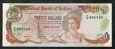 Belize 20 Dollars 1.1.1987 XF-VF P49b