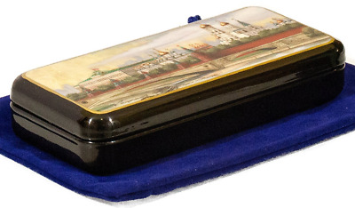 Russian Fedoskino Original Lacquer Box - Hand Painted in Russia - Collectible Ar