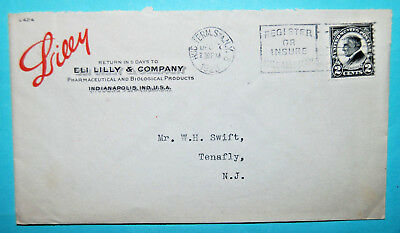 1923 postmarked opened Envelope ELI LILLY Pharmaceutical Drug Co Indianapolis,IN