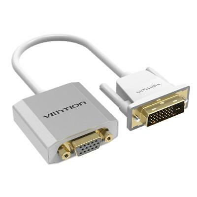 DVI 24+1 Male to VGA Female Adapter Cable 1080P for DVD Monitor HDTV White