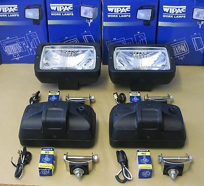 """4 x Wipac S7205 Roof bar Driving lamps lights """"E"""" marked"""