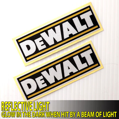 """2.1/2""""x2PC. DEWALT ACCESSORIES SAFETY GLOW DECAL STICKER HOUSEHOLD TOOLBOX TOOLS"""