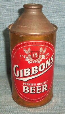 GIBBONS Cone Top Beer Can 12 oz. LION BREWERS WILKES BARRE PA.