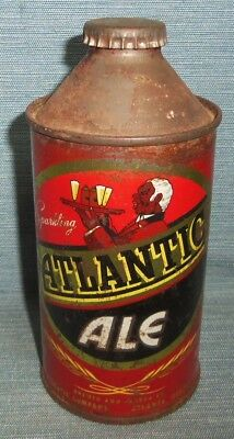 ATLANTIC WAITER Cone Top Beer Can 12 oz. With ORIGINAL CROWN
