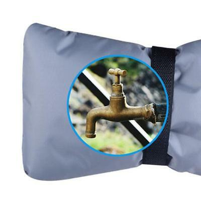 """Gray Outdoor Faucet Cover, Insulate & Protect, Soft/ Flexible, 7""""L x 6""""W"""