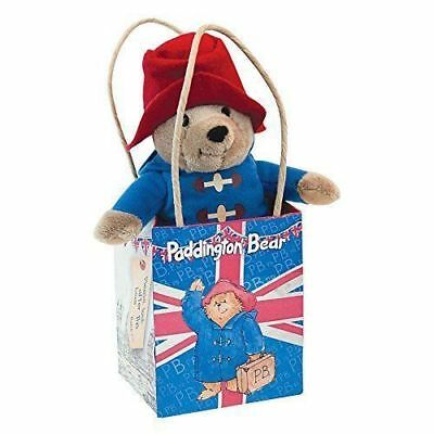 "Classic Paddington Bear Mini 5"" Plush In Union Jack Shopping Bag Soft Toy"