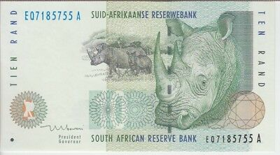 SOUTH AFRICA BANKNOTE P123b 10 RAND SIG 8, UNC