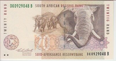 SOUTH AFRICA BANKNOTE P124a 20 RAND SIG 7, UNC