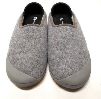 Mahabis Classic Slippers Gray; Wool Fur lining Removable soles; EU 39 / 8.5- 9