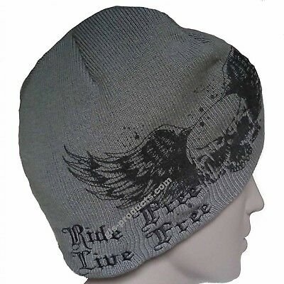 Knit Hat Wing Master Beanie double-layered acryl material printed embroidered