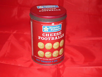 Huntley & Plamers Cheese Footballs tin, 1970s, collectable, retro, props