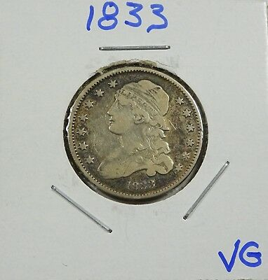 1833 Silver Capped Bust Quarter