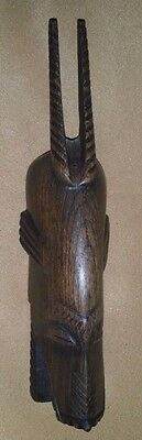 "SMALL Vintage CARVED Wooden Wood AFRICAN Tribal MASK Wall Hanging FOLK ART 7""H"